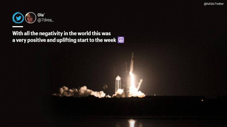 people-cheer-on-social-media-as-spacex,-nasa-launch-second-crewed-mission-to-space