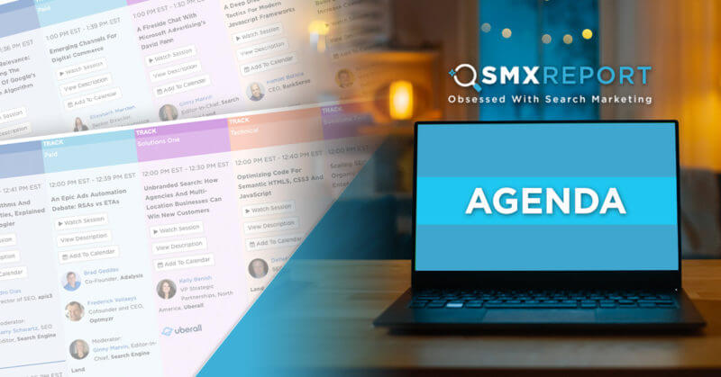 Main Image - The SMX Report agenda is live